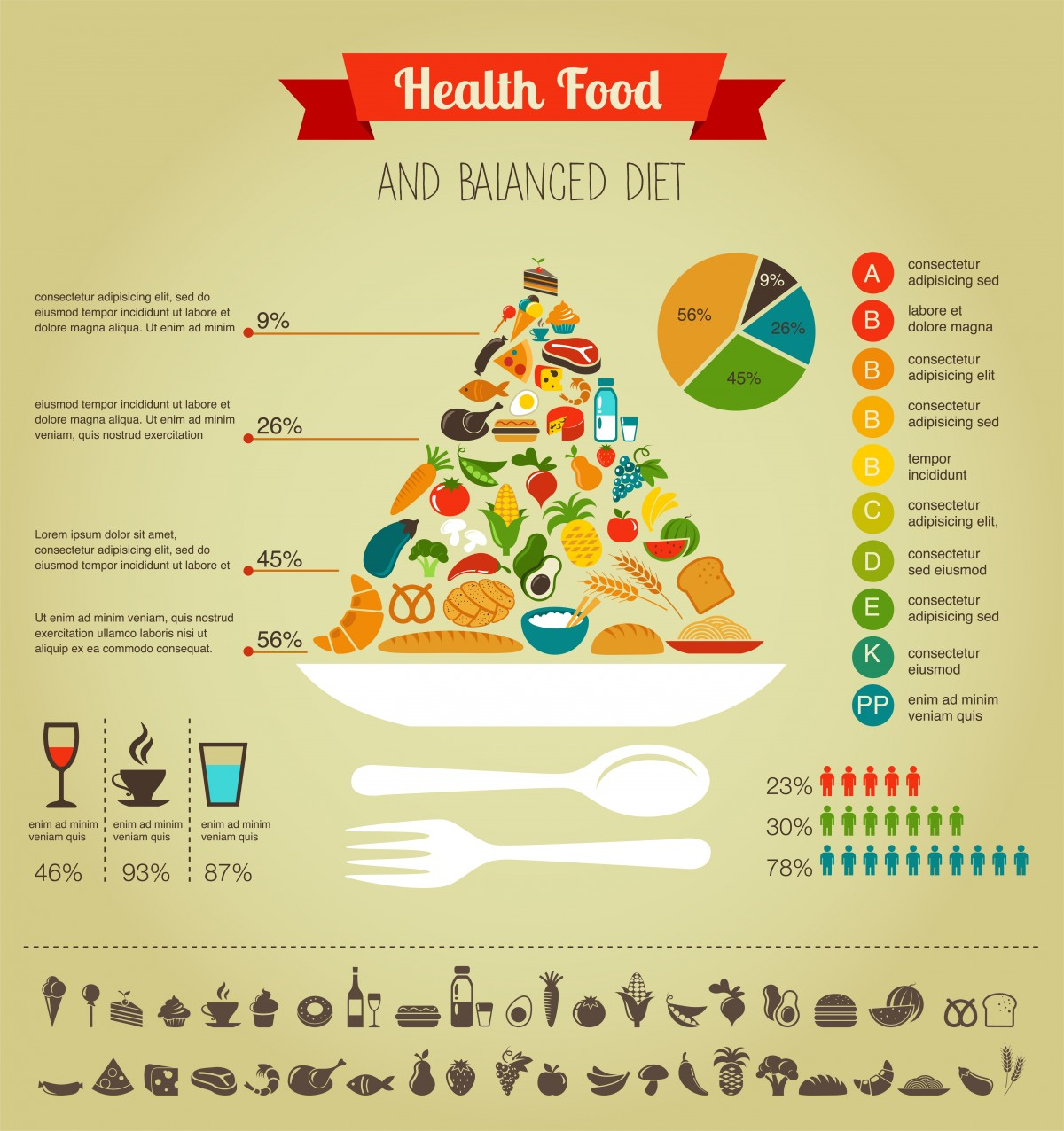 Relislim step 5 all food groups health food pyramid infographic data and diagram forumfinder Choice Image